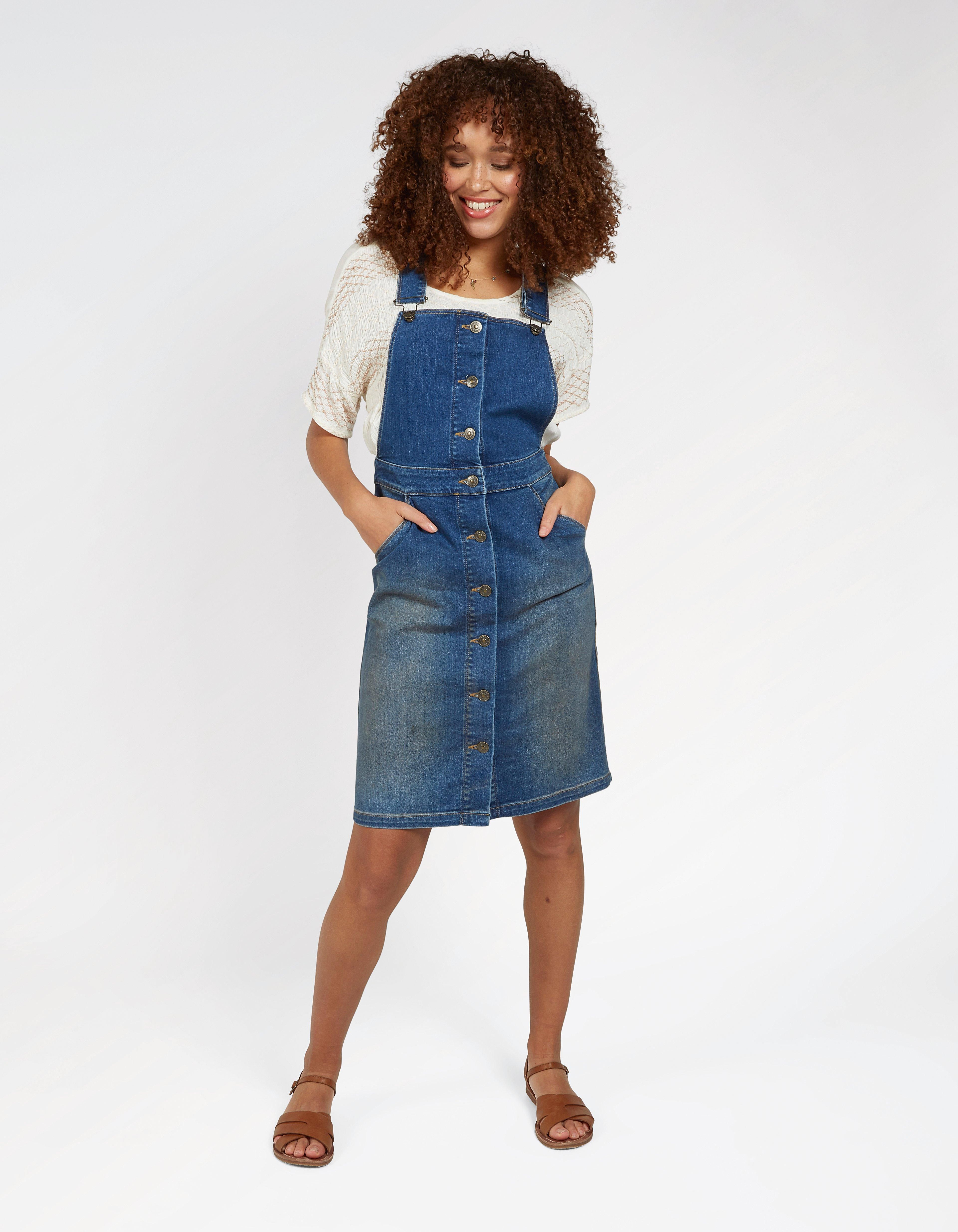 a662ca61fe08a Pin by Carolyn Carter-Cash on Clothes in 2019 | Denim midi dress, Dungaree  dress, Fat face