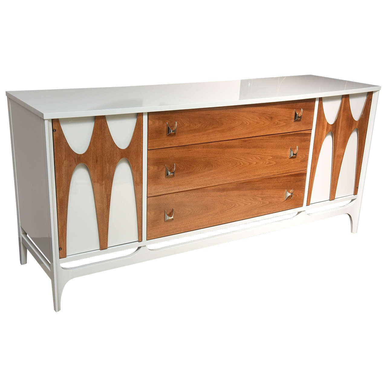 Best Mid Century Modern Broyhill Brasilia Walnut And White 640 x 480
