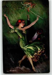 Künstlerkarte Usabal, L. Frau Tanz