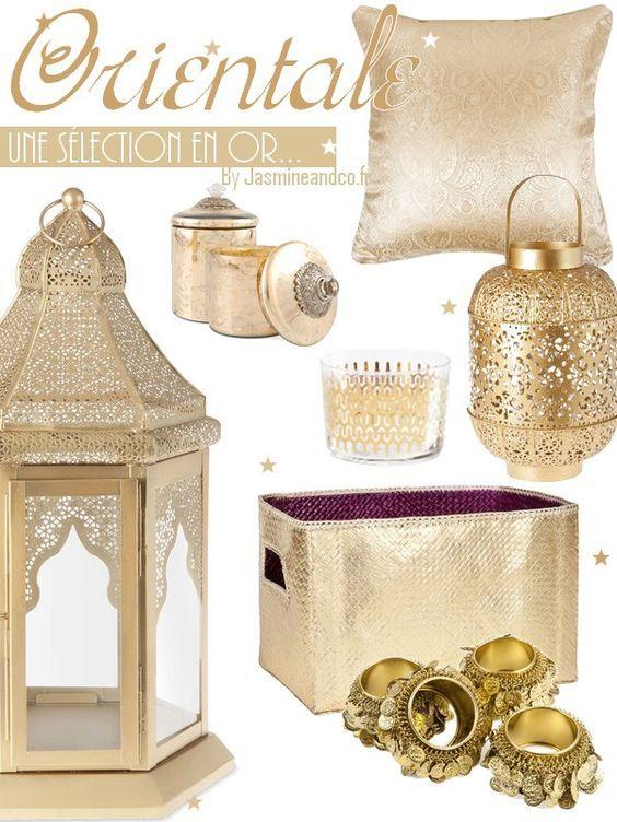 décoration orientale marocaine couleur or pour salon Decor