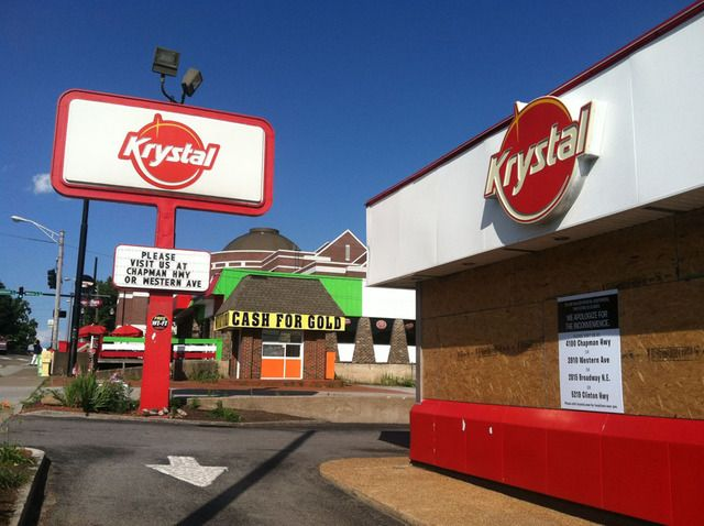 Krystal Is An American Fast Food Restaurant Chain Headquartered In Atlanta Georgia It Known For Its Small Square Hamburger Sliders With Steamed