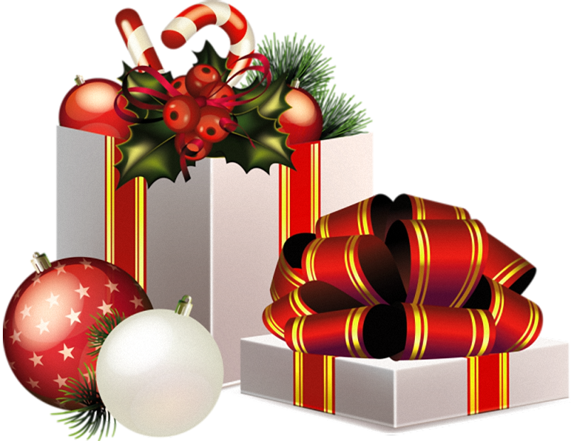 Christmas Transparent PNG Gifts Decoration Christmas