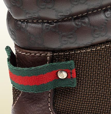 trek boot with signature web detail - gucci