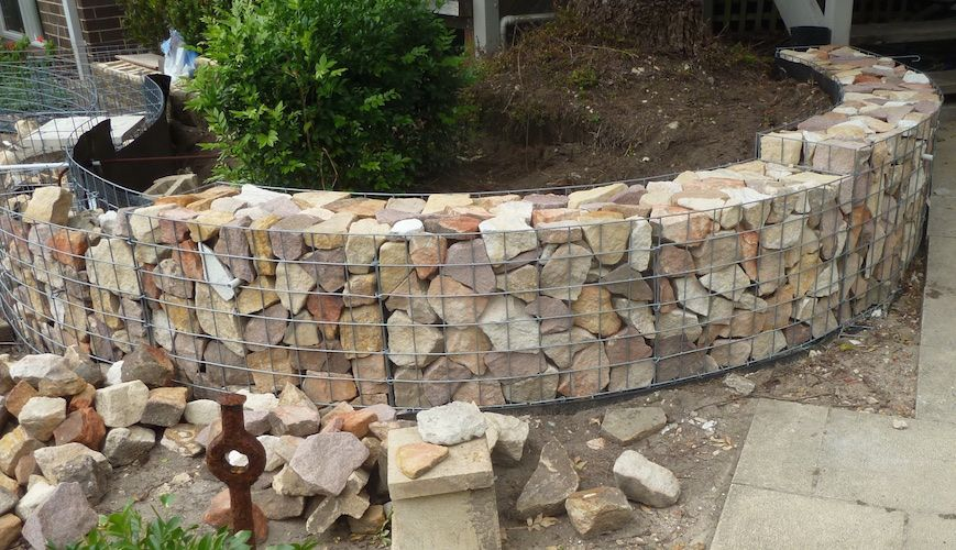 Gabion retaining wall design interesting gabion basket Gabion wall design