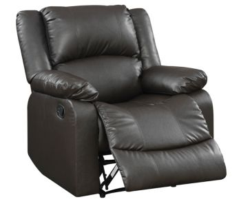 Lifestyle Solutions Preston Manual Recliner Faux Leather And Wood Frame Reviews Recliners Furniture Macy S Leather Recliner Leather Recliner Chair Recliner