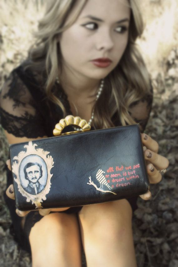 Poe Painted  Purse