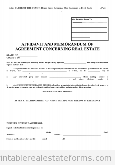 Sample Printable Affidavite Of Ps New Form  Sample Real Estate