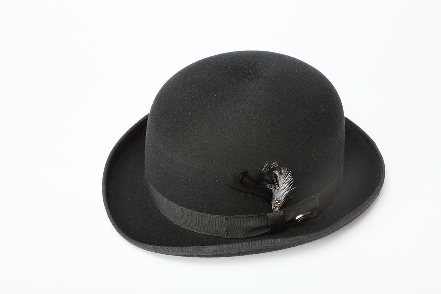 New Mens 100% Wool Black Derby Bowler Hat from Amazon