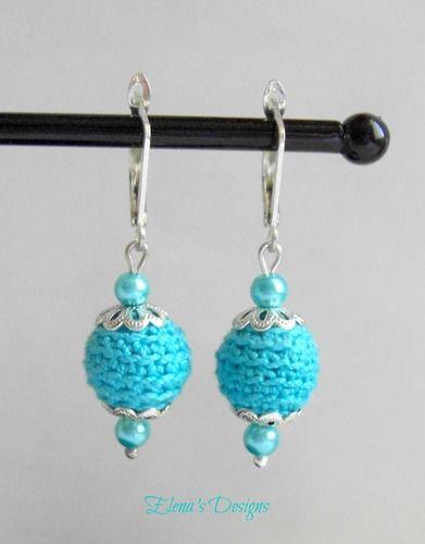 Cute Turquoise #Crochet #Earrings Leverback
