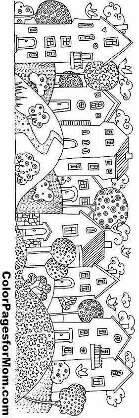houses in a row  Drawing  Pinterest  Coloring House and