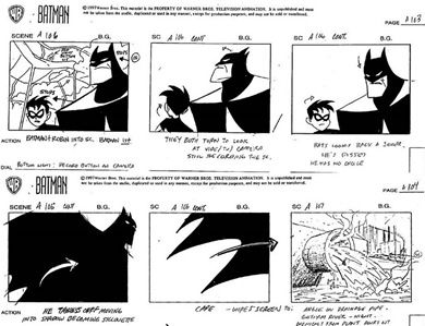 Batman Animated Storyboard Pages Testing Out Pintrest Button App