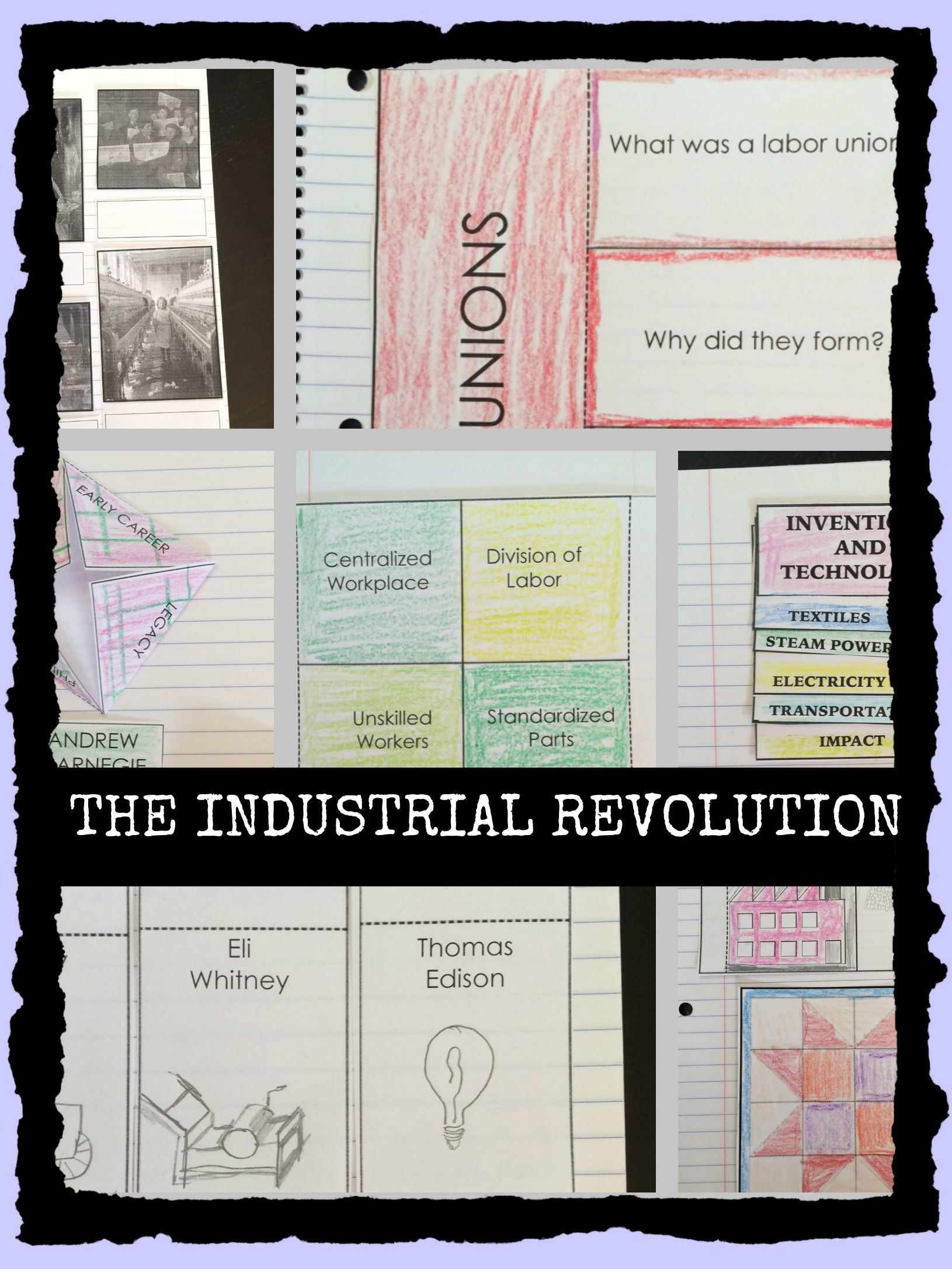 industrial revolution newspaper activity or collaborative project industrial revolution interactive notebook graphic organizers