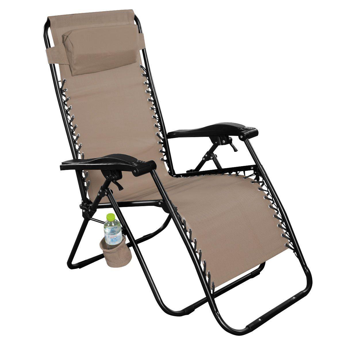 Giantex folding lounge chairs recliner zero gravity