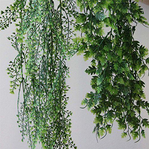 Hängepflanzen Zimmer homescapes conjunto de dos plantas artificiales colgantes