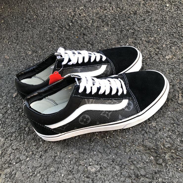 Black/ White Old Skool Vans Fabric is