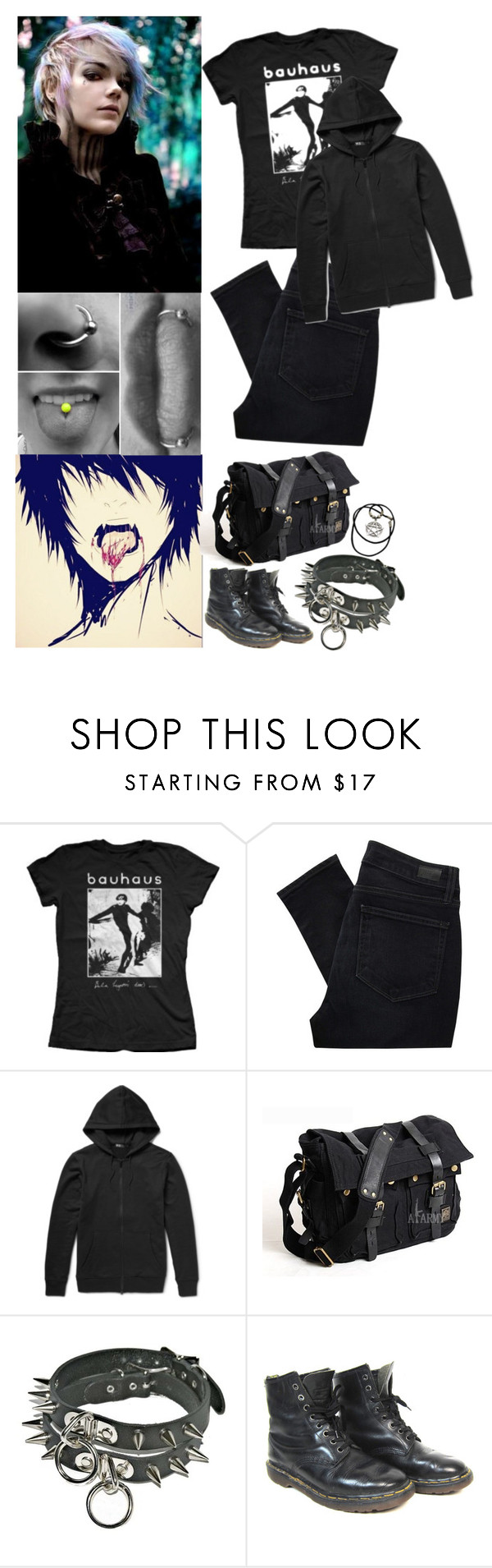 """""""PRP"""" by insane-alice-madness ❤ liked on Polyvore featuring Bela, Paige Denim, Y-3 and Dr. Martens"""