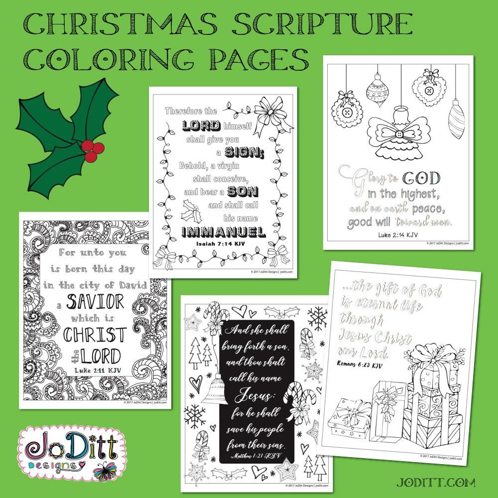 Christmas Scripture Coloring Pages | Christmas scripture, Scriptures ...