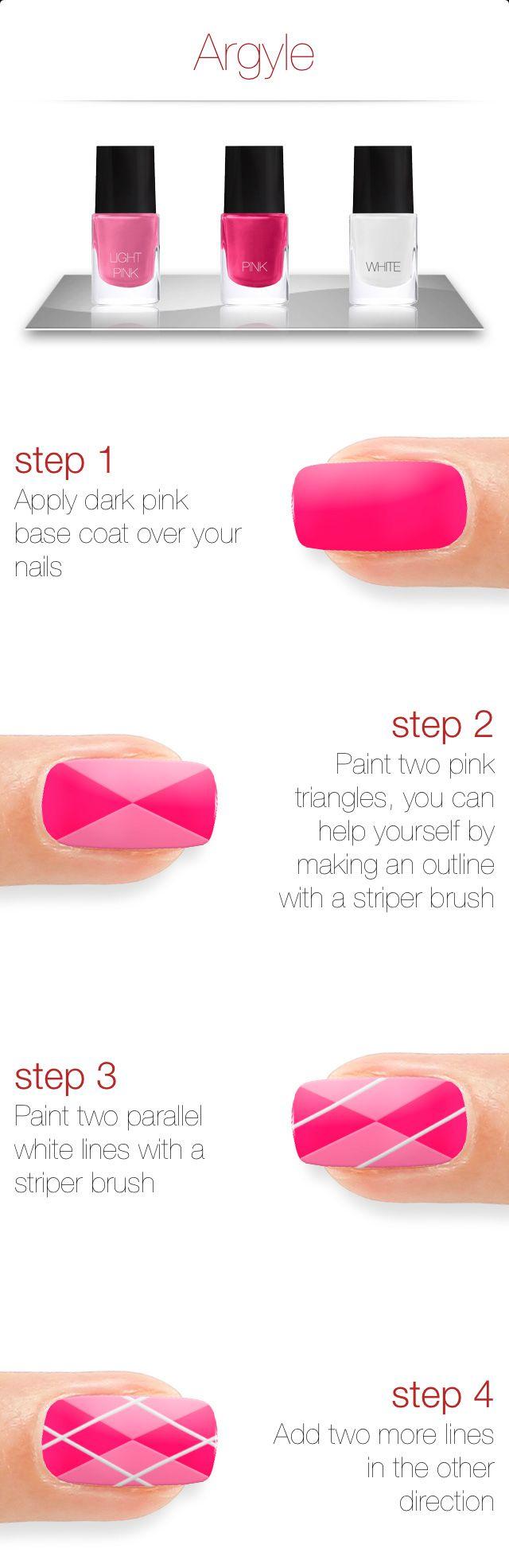 Argyle nail art nail art design options pinterest argyle nails
