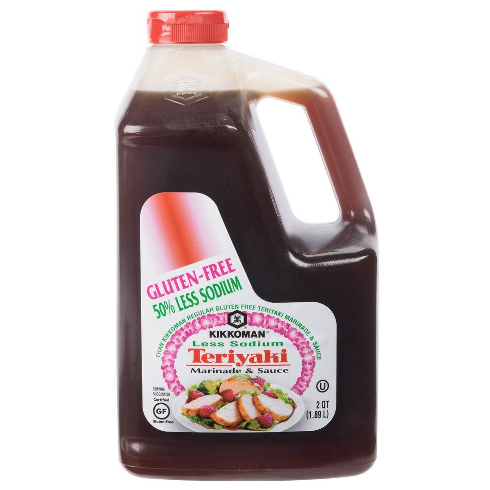 Kikkoman 5 gallon less sodium gluten free teriyaki