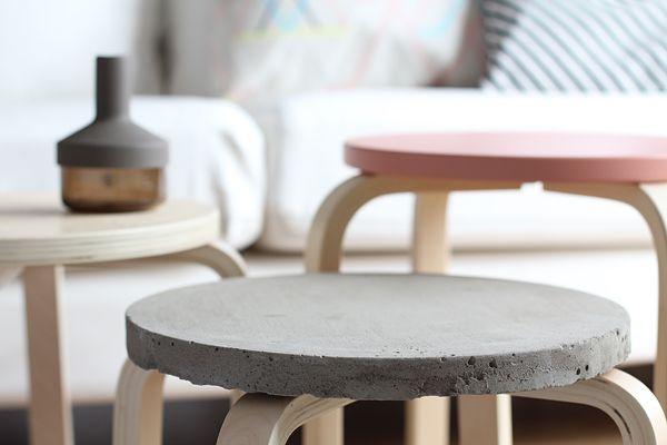 concrete stools Concrete design interior Beton design - designer mobel materialmix