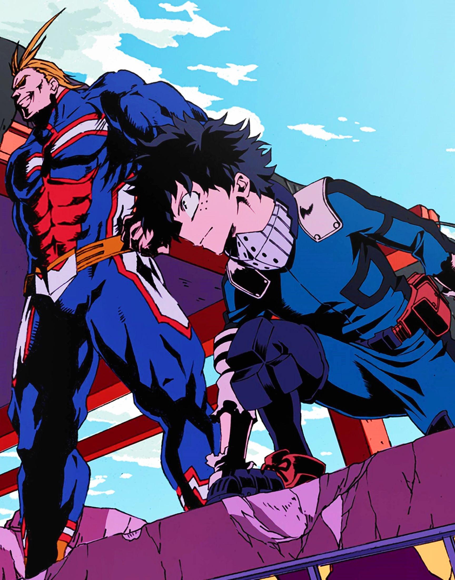 Izuku Midoriya And All Might My Hero Academia Fanart Manga