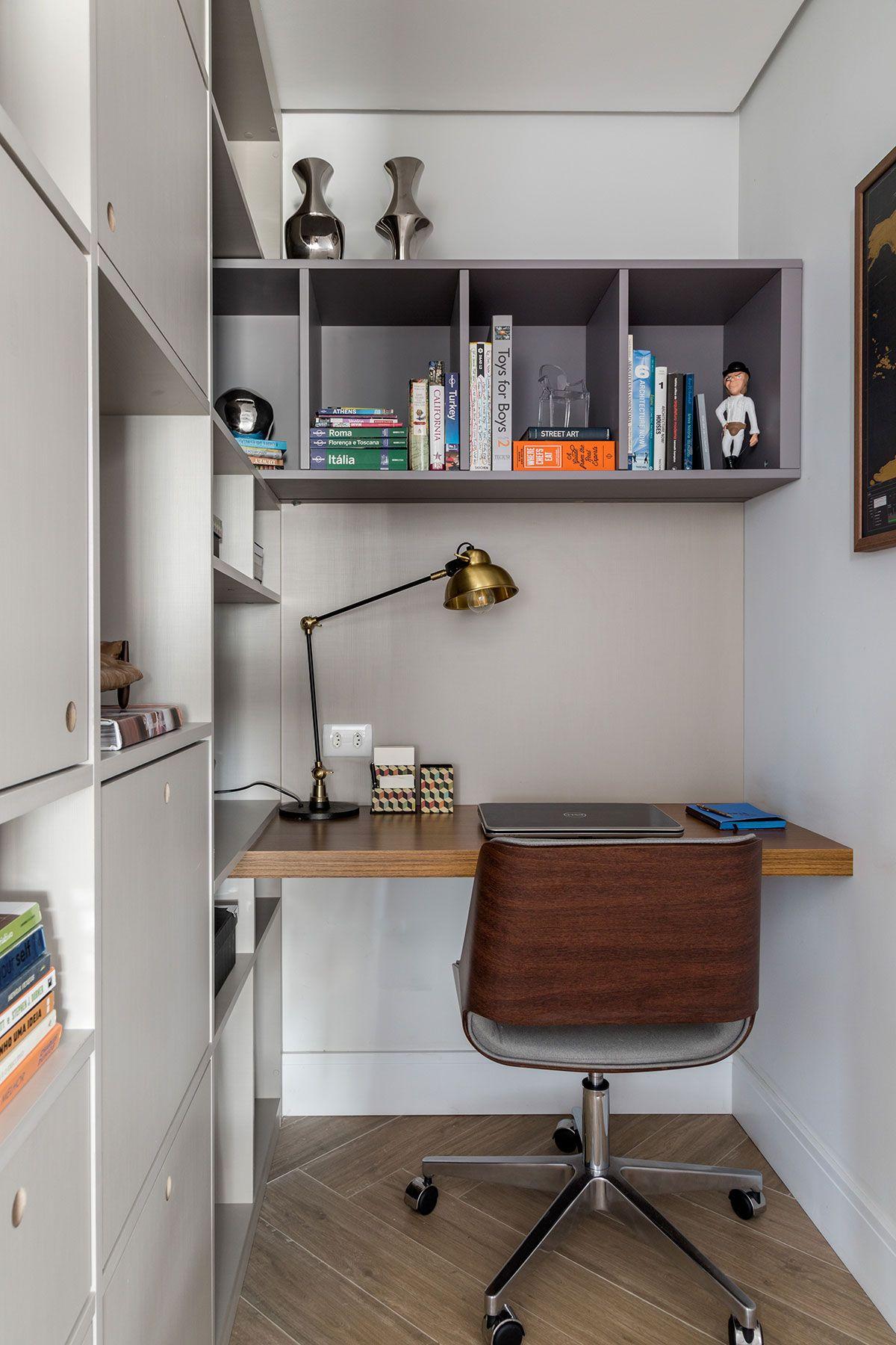 turkey home office. Decoração De Apartamento Moderno E Cinza. No Escritório Em Casa, Home Office, Luminária Turkey Office T