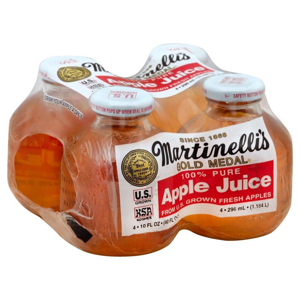 Martinelli's Apple Juice 4pk/10 fl oz Bottles in 2019