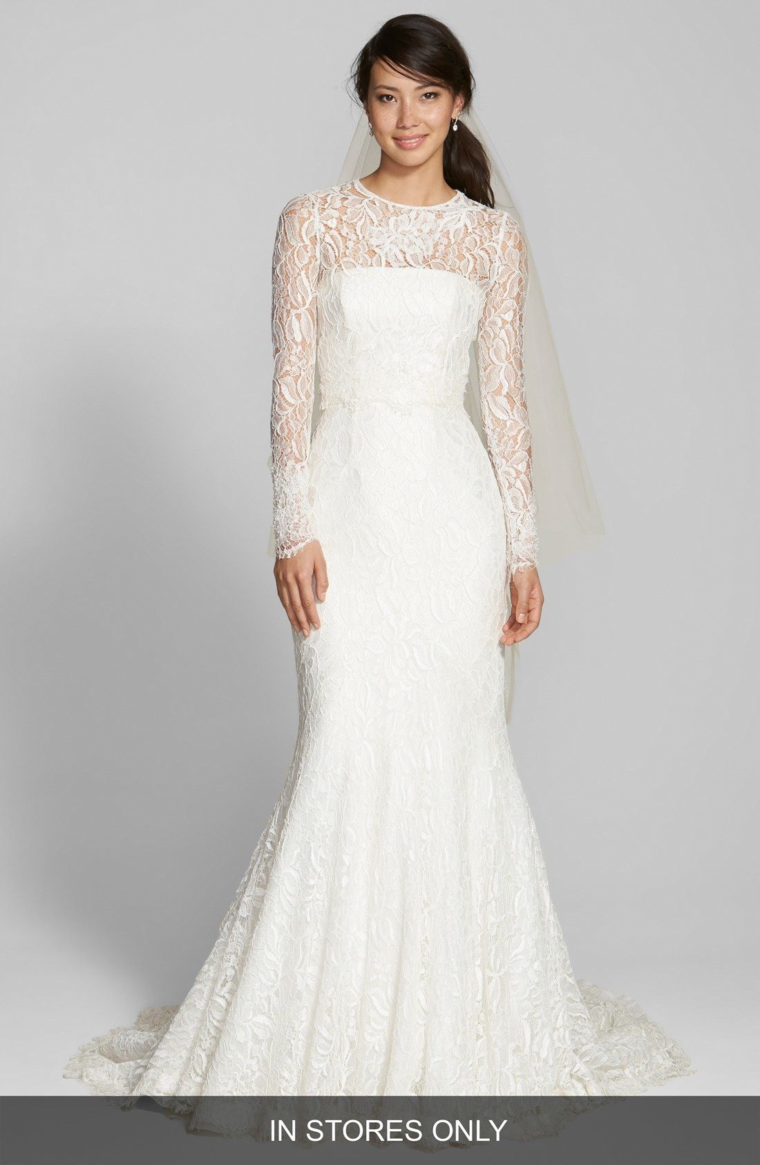 Jesús Peiró Illusion Yoke Lace Mermaid Dress (In Stores Only ...