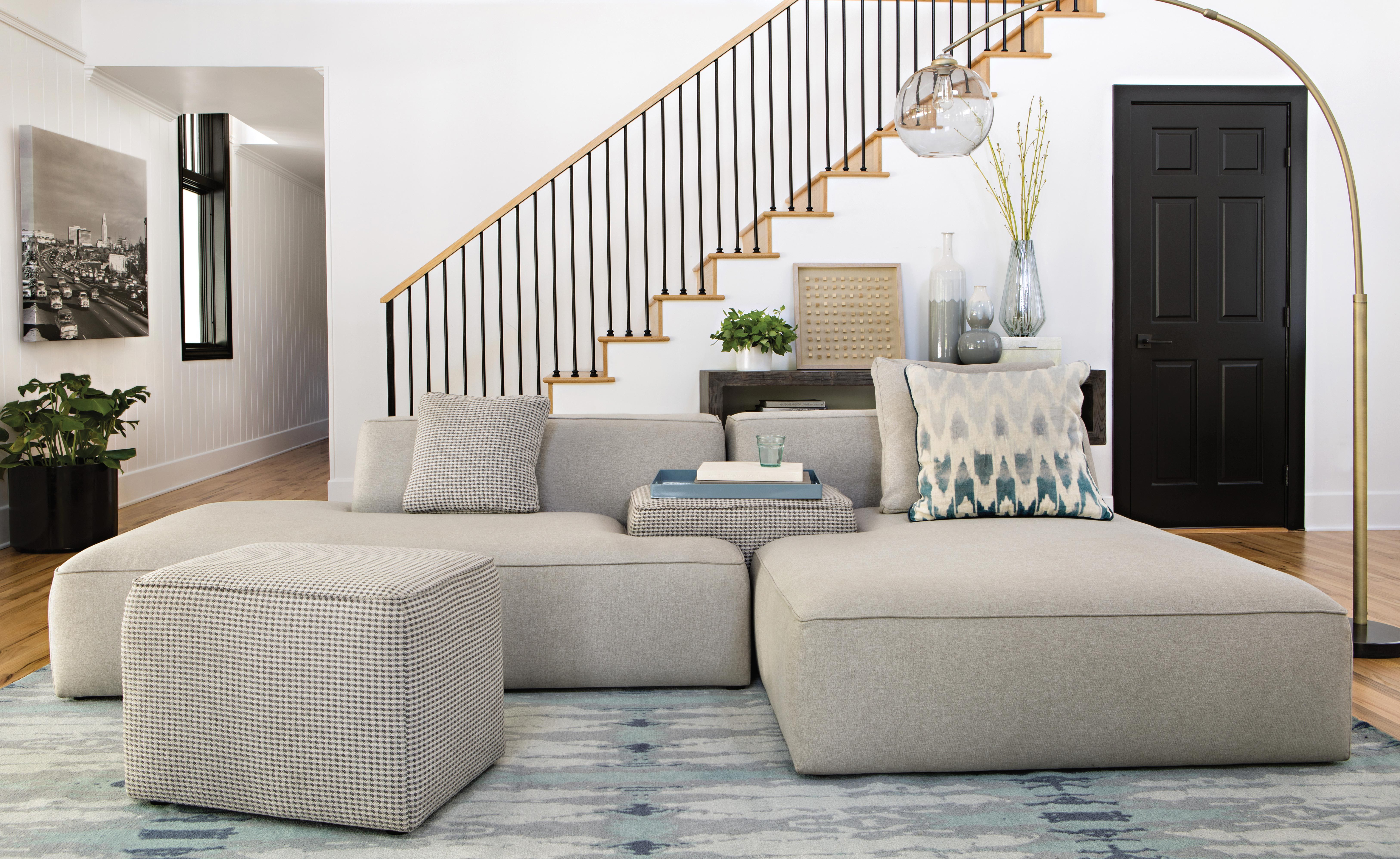 Anything But Basic Livingspaces Click Through For Details Living Room Sofa Design Living Room Stools Sofa Design