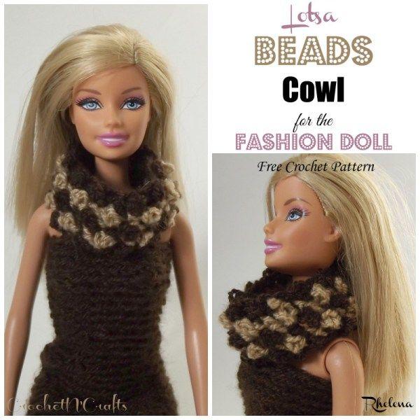 Lotsa Beads Cowl for the Fashion Doll ~ FREE Crochet Pattern ...