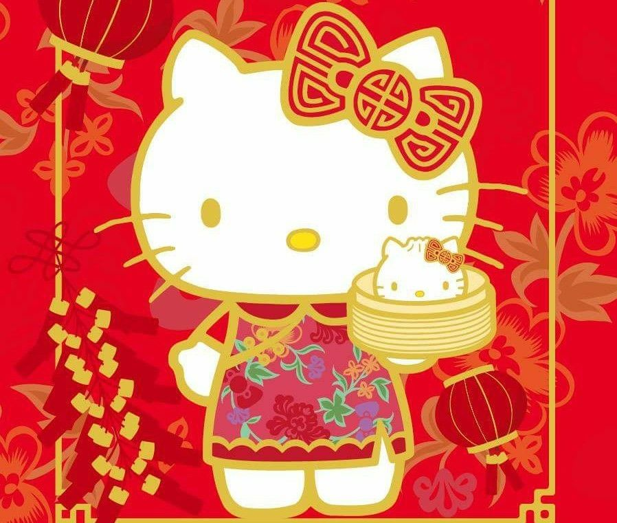 Hello Kitty Happy Lunar New Year Cuteness Hello Kitty Hello