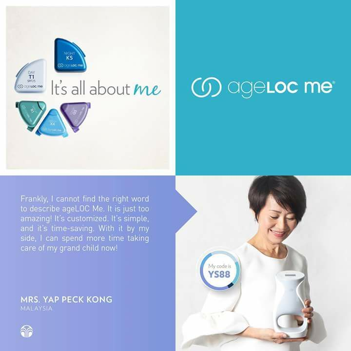Its customized. Its simple and its time-saving.  Customize your own individual skin care formula through the ageLOC Me skin assessment app now:  Apple App Store: bit.ly/ageLOCMeApp  Google Play Store: http://bit.ly/ageLOCMeApp_Google  Hear what others say about ageLOC Me. #DiscoverMe #ageLOCMe #nuskinsea  สอบถามรายละเอยดและรบตวแทนจำหนายเพมทกมาไดเลยครบ