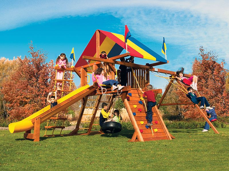 Residential Swing Sets Rainbow Set Supers Naperville Il