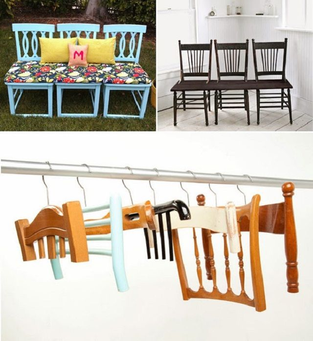 Ideas How To Recycle Old Chairs Into Creative Things