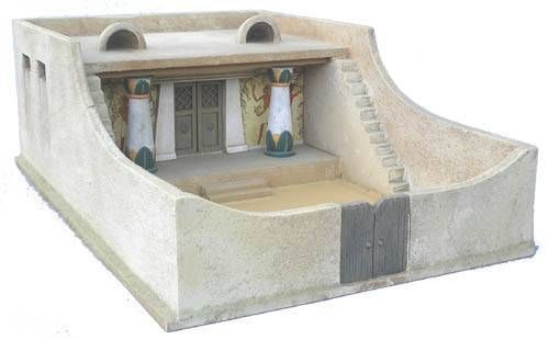 Model ancient egyptian house