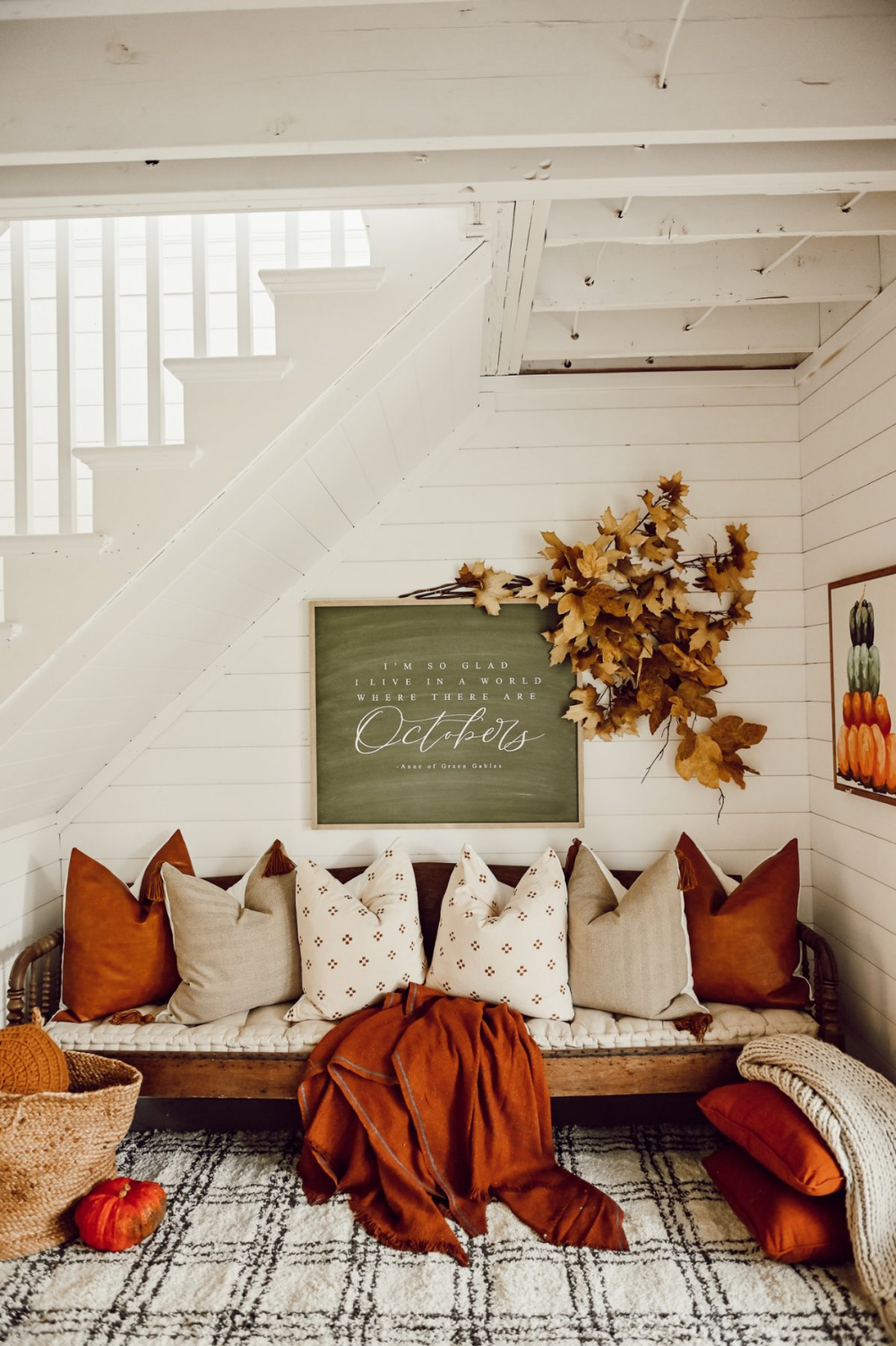 Cozy Fall Nook Under The Stairs