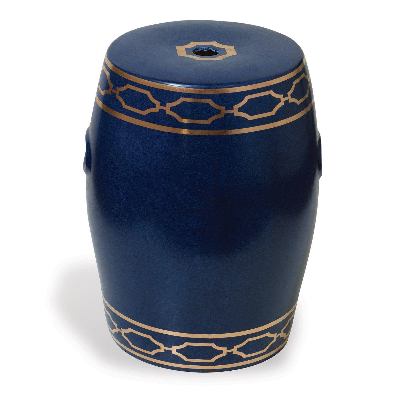 Blue White Designer Ceramic Garden Stool Square Garden Stool Blue Garden Stool Ceramic Garden Stools