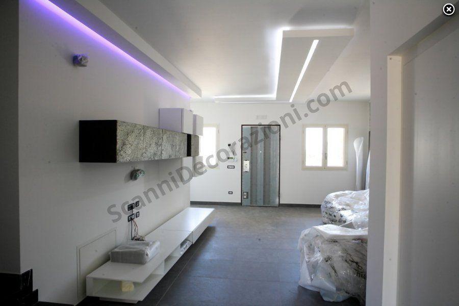 Faretti Controsoffitto Salone Ristrutturato: Illuminazione soggiorno controso...