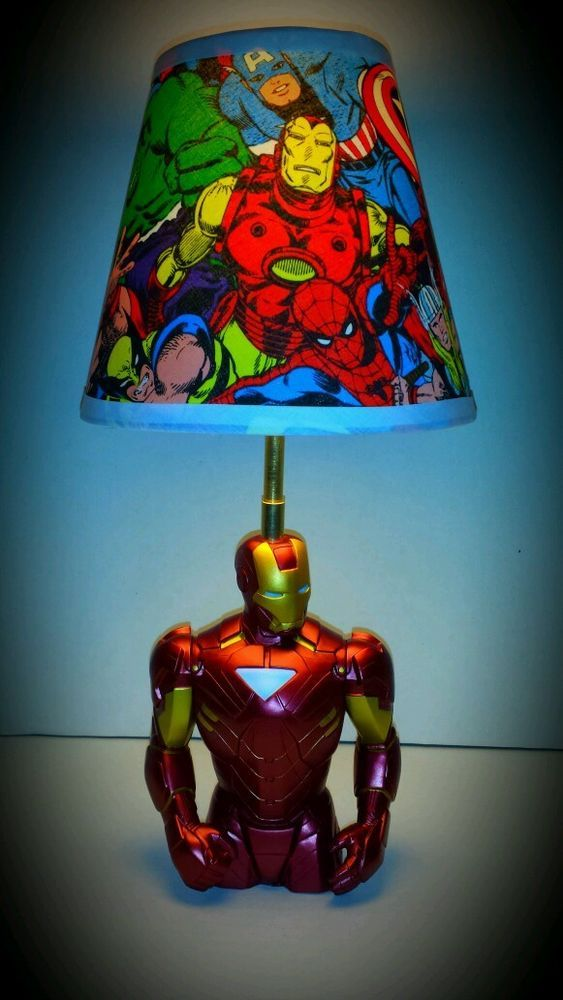 Marvel Avengers Iron Man Lamp And Lampshade!