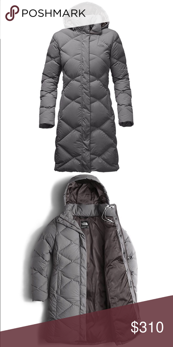 North Face Miss Metro heather grey parka Barely been worn! Great condition  North Face Jackets d1350eb5ec00