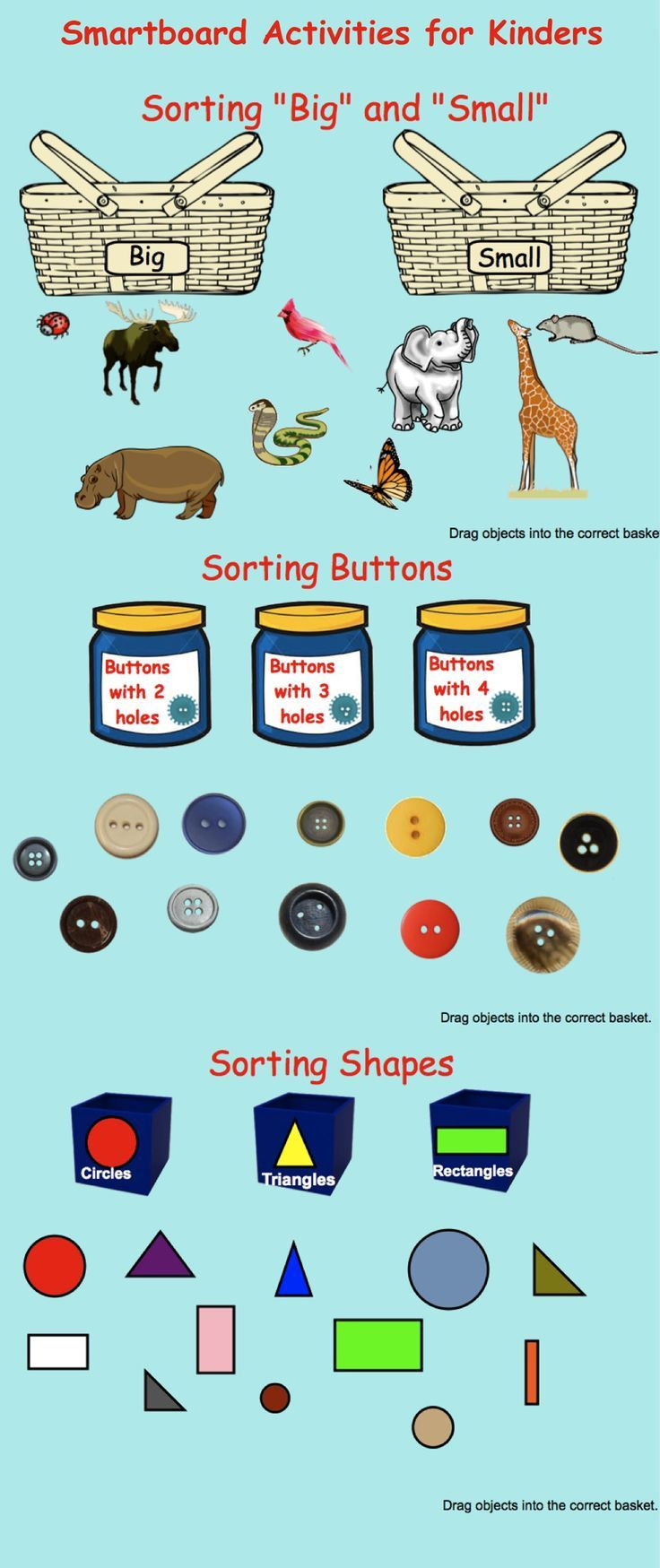 Smartboard: Kindergarten Sorting (shapes, numbers) with flash ...