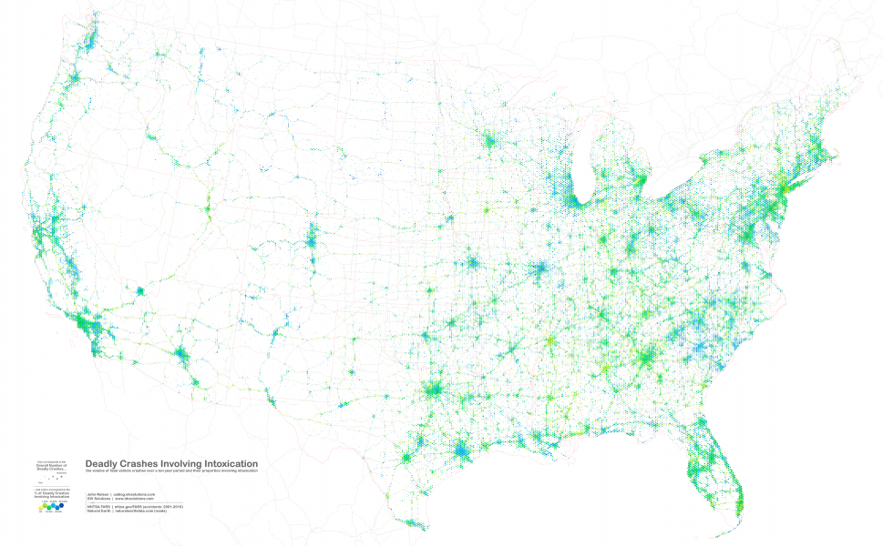 National Traffic Map.A National Portrait Of Drunk Driving Infographic Ten Years Of