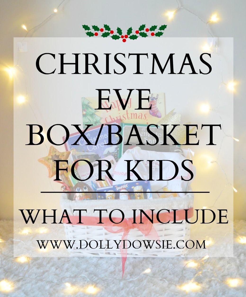 Christmas Eve Box/Basket For Kids   Christmas eve box, Christmas eve, Christmas eve box for kids