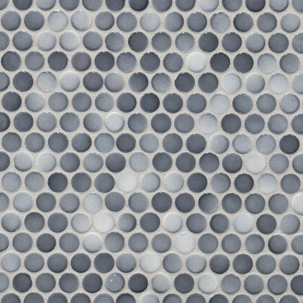 Dark Gray II Penny Porcelain Mosaic Porcelain mosaic