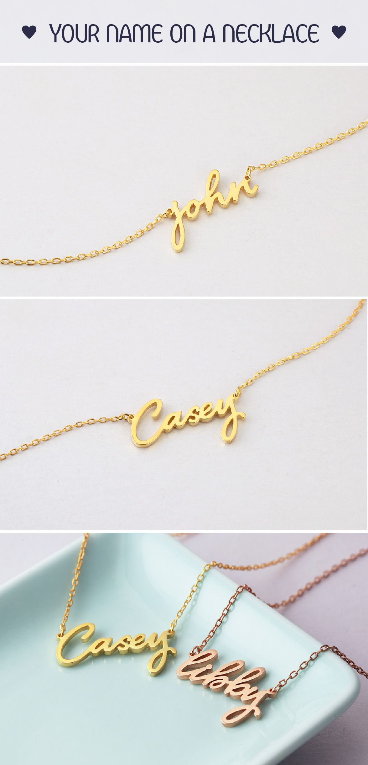 products mod cursive custom name necklace square wickedly