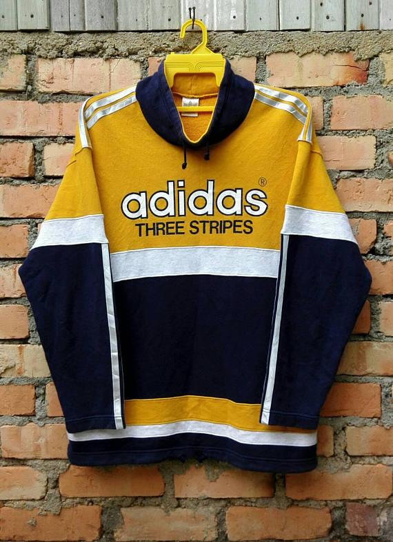 a632deb03ca2d Rare!!! Vintage 90s Adidas Three Stripes Sweatshirt Pullover Medium ...