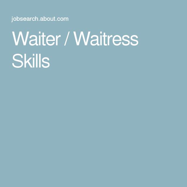 Job Resume, Bartender, Server Life