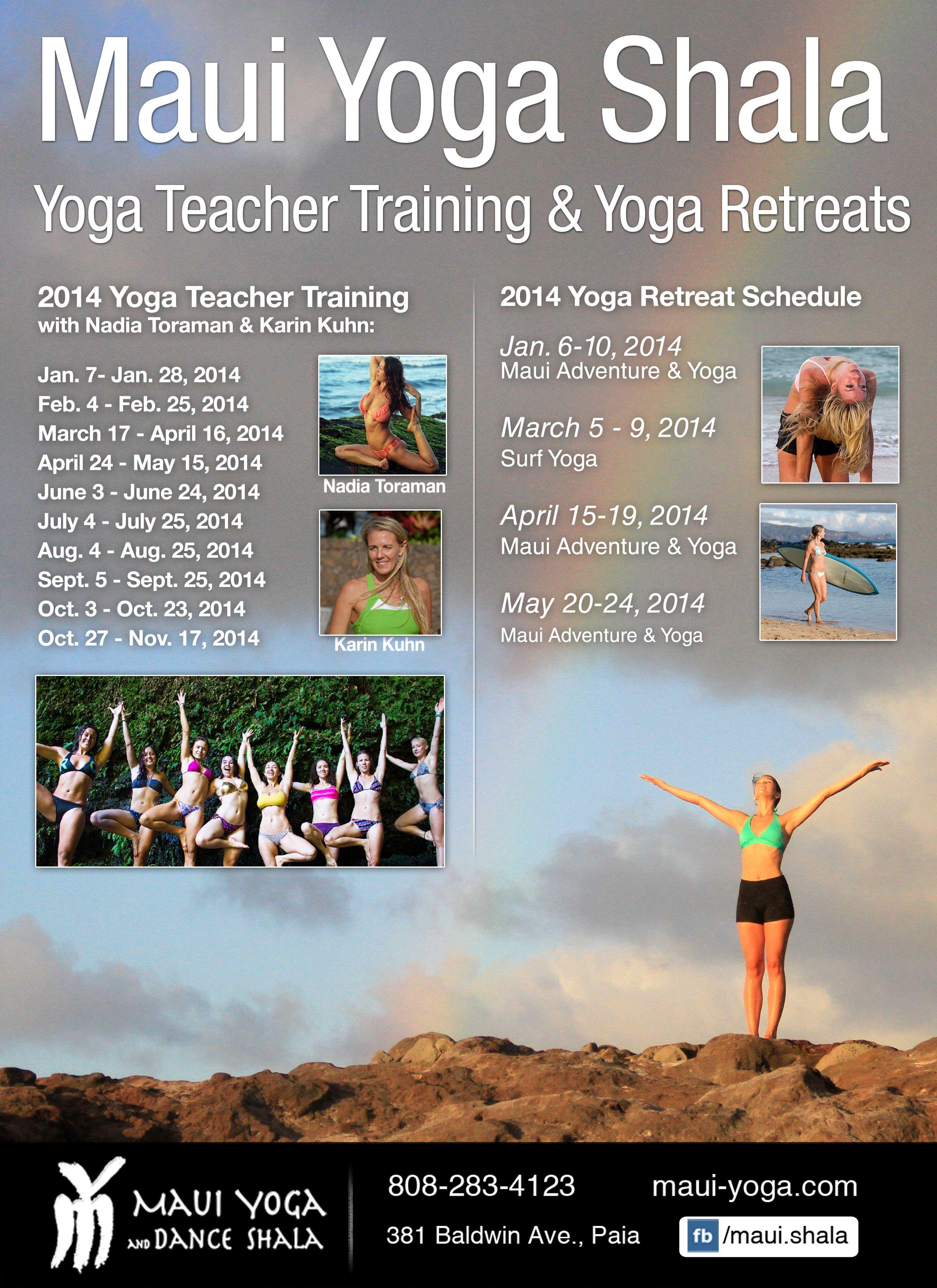 Yoga Teacher Training Yoga Retreats In Maui Hawaii Yoga Teacher Training Yoga Practice Inspiration Teacher Training