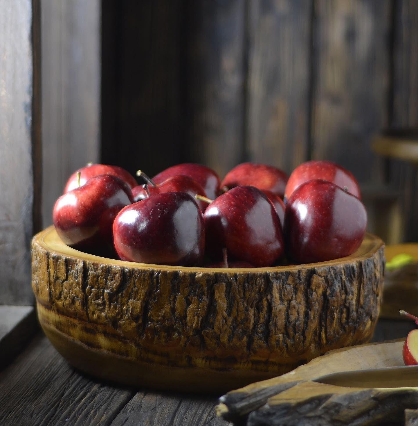 اناء من خشب المانجو بارتفاع 11 سم وقطر 30 سم بسعر 120 ريال Serving Bowls Food Fruit
