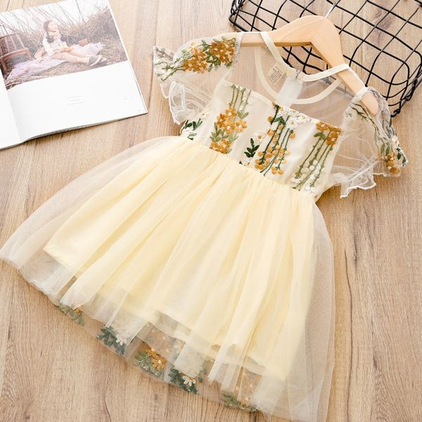 41d31bcb6 Toddler Toddler Girl's Floral Embroidery Tulle Dress at PatPat.com ...